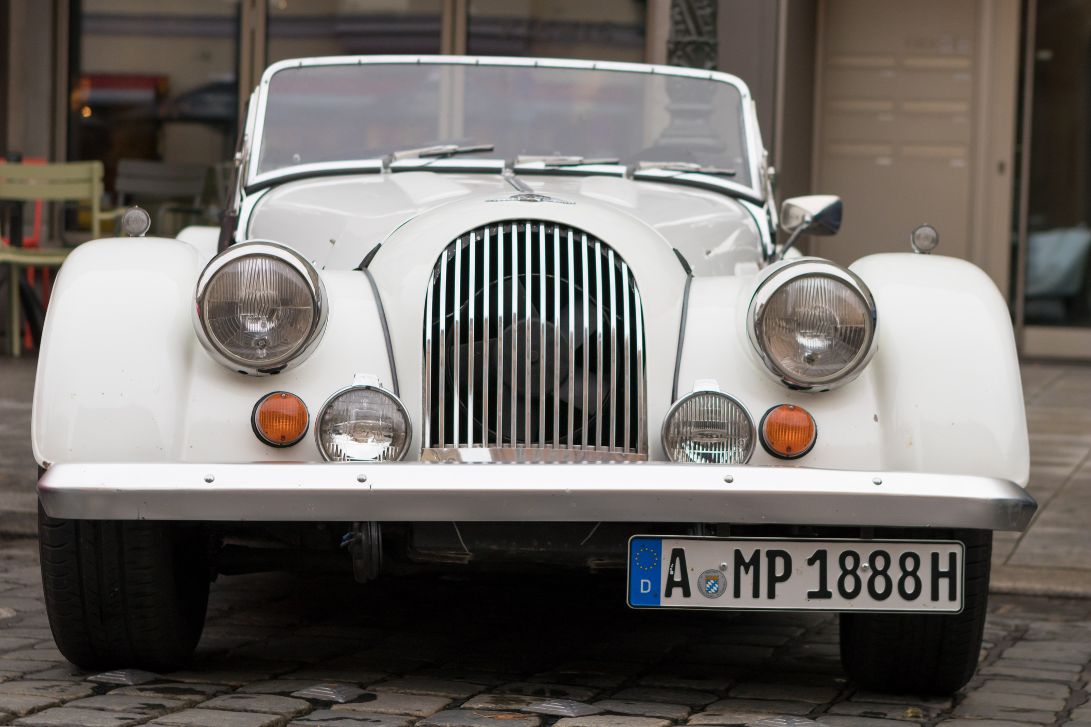 Morgan oldtimer car at the Fuggerstadt Classic 2017 Oldtimer Rallye